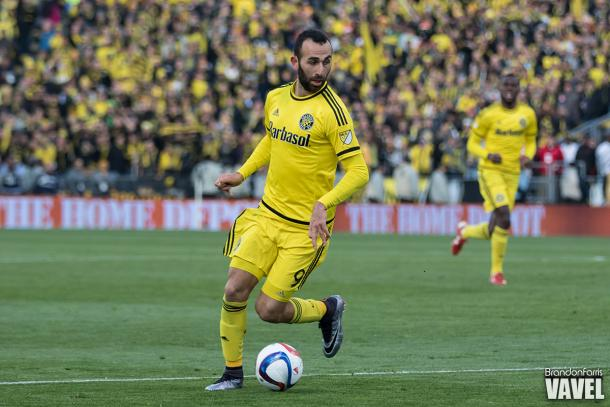 Justin Meram during the 2015 MLS Cup Final against the Portland Timbers | Brandon Farris - VAVEL USA