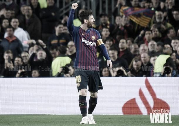 Messi marca el último gol del Barcelona en Liga Santander | Foto: Noelia Déniz - VAVEL