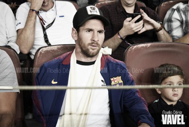 Messi, por lesión, se ha perdido las primeras cuatro jornadas de Liga Santander   Foto: Noelia Déniz - VAVEL