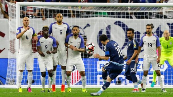 Messi scored one of the best goals of the tournament - USA. Source: Eurosport