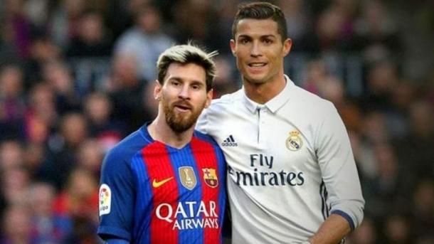 Leo Messi y Cristiano Ronaldo, juntos en un partido. Foto: elespanol.com