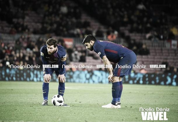 Messi y Suárez deshacen el Sevilla | Foto: Noelia Déniz - VAVEL