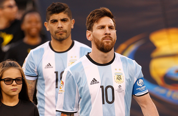 Messi leads his team out for what looks to be the final time. | Image credit: Chris Szagola/LatinContent/Getty Images