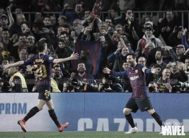 Messi abre el marcador | Foto: Noelia Déniz - VAVEL