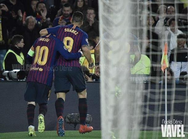 Suárez y Messi dan el triunfo ante el Atleti | Foto: Noelia Déniz - VAVEL