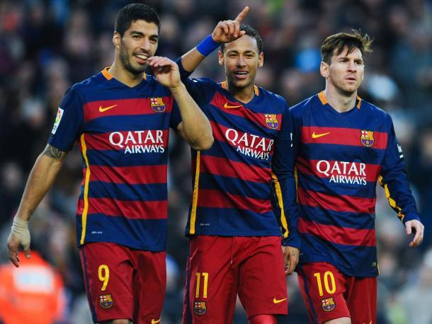 Trio MSN: Messi, Suárez e Neymar // Foto: Getty Images