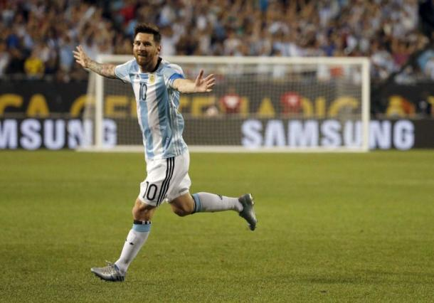 Lionel Messi is inching closer to tying Argentina's leading scorer. source: Newsday