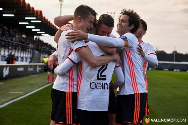 El Mestalla celebrando un tanto | Valencia CF