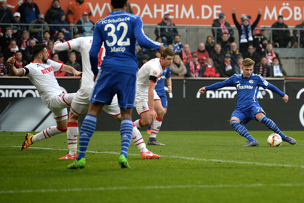 Max Meyer scores Schalke's second goal | Photo: Bongarts/Sascha Steinbach