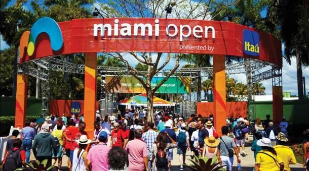 The 2016 Miami Open is currently underway and runs through April 3. Credit: USTA Florida