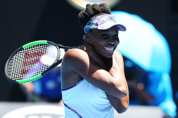 Venus Williams celebrates after her quarterfinal win over Anastasia Pavlyuchenkova (Getty/Michael Dodge)