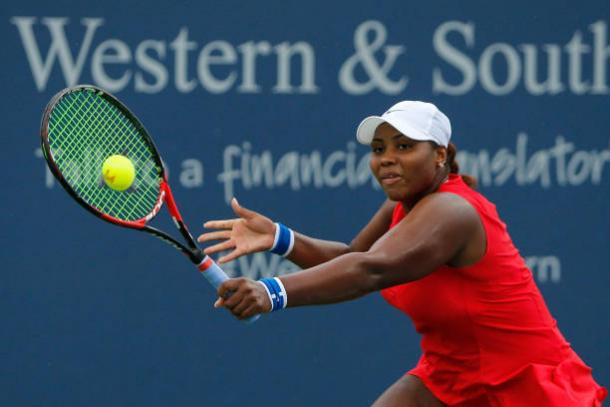 Taylor Townsend in action at the Western and Southern Open (Getty/Michael Reaves)