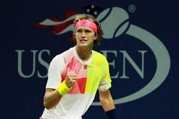 Zverev in action at the US Open last year (Getty/Michael Reeves)