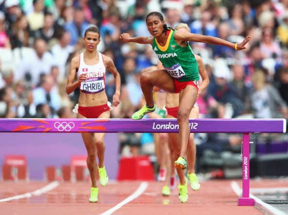 Sofia Assefa in action at the London 2012 Olympic Games (Getty/Michael Steele)