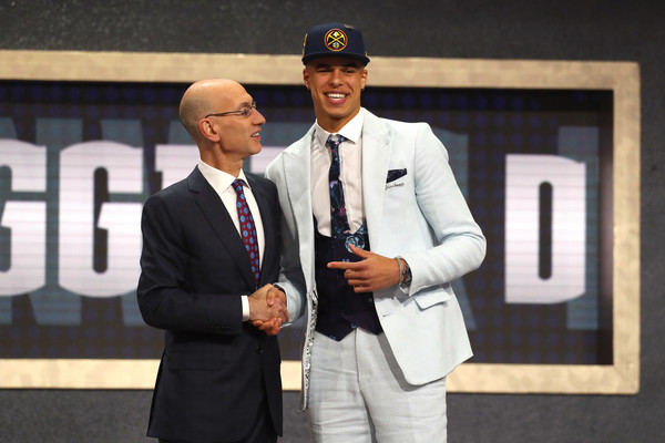 Michael Porter Jr. poses with NBA Commissioner Adam Silver |Mike Stobe/Getty Images North America|