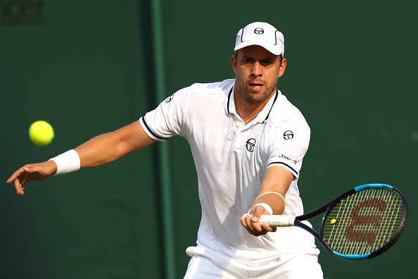 Gilles Muller at Wimbledon (Photo: Michael Steele/Getty Images)
