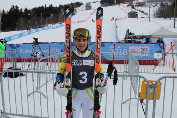 Michel Macedo sofreu uma queda no treinamento desta terça-feira em PyeongChang (COB \Divulgação)