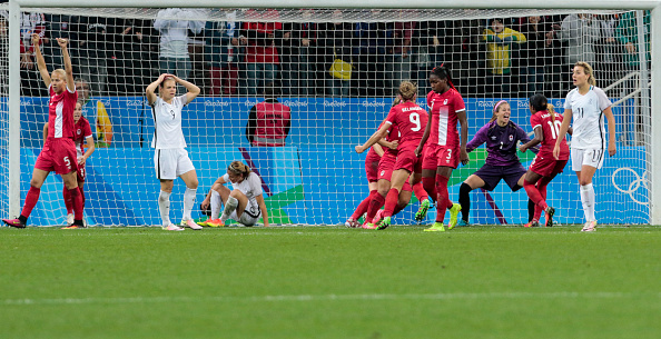 Conflicting emotions at the whistle as Canada progress at France's expense (credit: Miguel Schincariol/Getty)