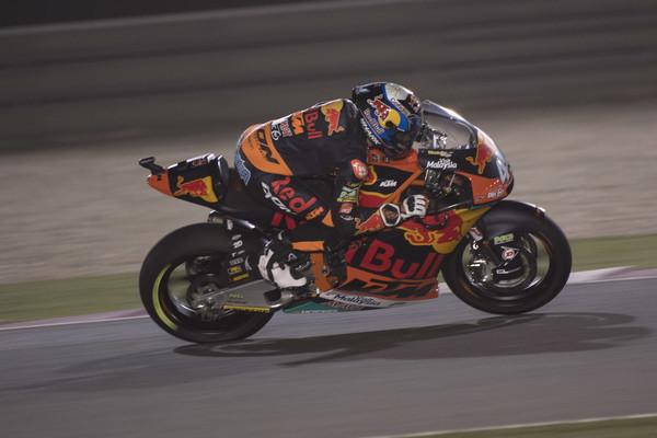 Miguel Oliveira durante la carrera en Qatar