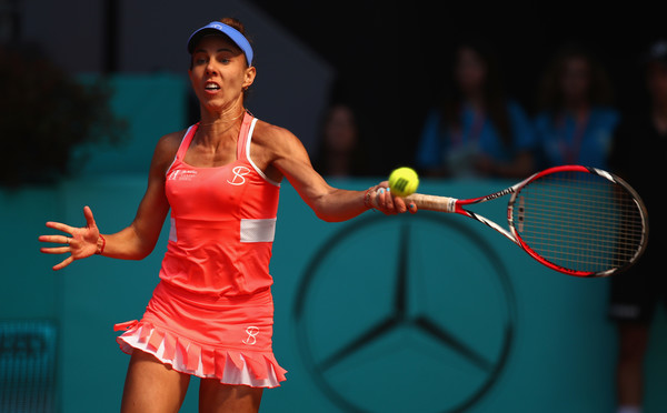 Mihaela Buzarnescu was unable to keep up her high level of play against the inspired Russian | Photo: Clive Brunskill/Getty Images Europe