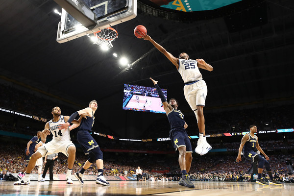 Mikal Bridges #25 of the Villanova Wildcats |April 1, 2018 - Source: Ronald Martinez/Getty Images North America|