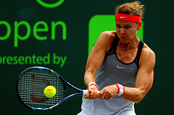 Safarova is looking for form (Getty/Mike Ehrmann)
