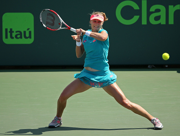 Ekaterina Makarova in action during the Miami Open, one of her best tournaments of the year (Getty)