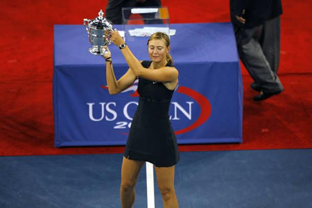 Maria Sharapova with the US Open title back in 2006