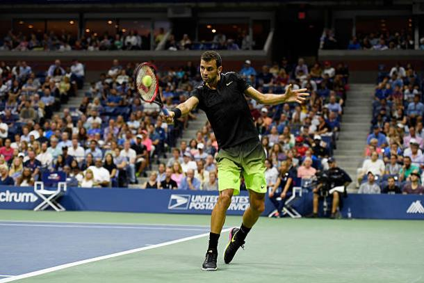 Dimitrov during his fourth round loss to Andy Murray last year (Getty/Mike Hewitt)