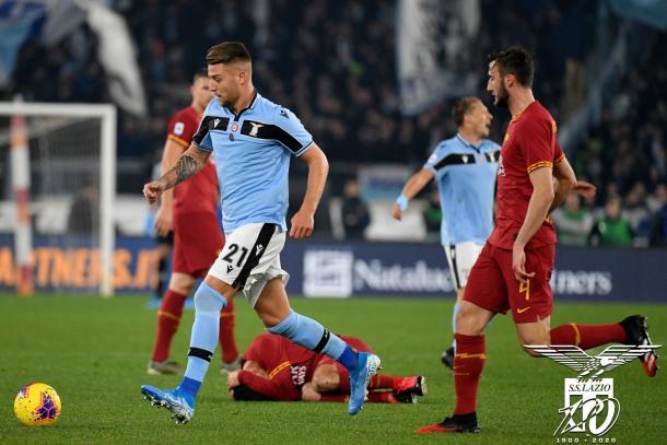 Milinkovic-Savic in azione | Foto: Twitter @OfficialSSLazio
