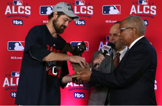 Andrew Miller was named ALCS MVP | Source Vaughn Ridley - Getty Images