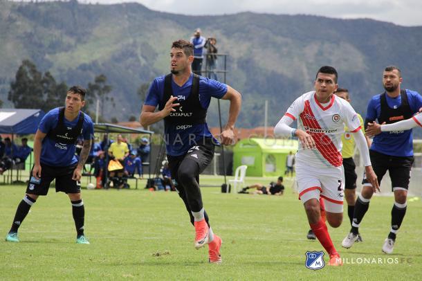 Millonarios venció a Cortuluá en partido de preparación. Foto: Millonarios FC.