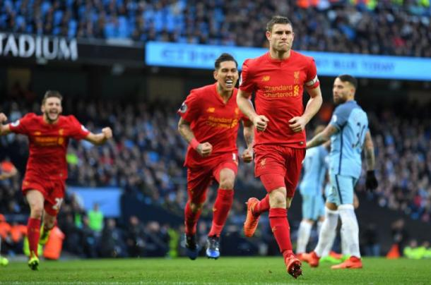 "Ex-jogador do City, Milner aplicou a ""lei do ex"" pelo Liverpool na última temporada (Foto: Getty Images)"