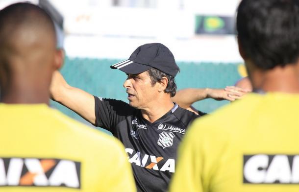 Milton Cruz reforçou confiança no modelo de jogo do time para o clássico (Foto: Vinícius Nunes/Figueirense FC)