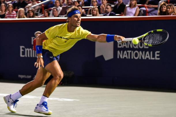 Nadal in action in Montreal (Getty/Minas Panagiotakis)