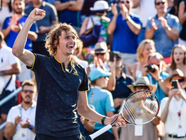 Zverev celebrates winning the Rogers Cup earlier this month (Getty/Minas Panagiotakis)