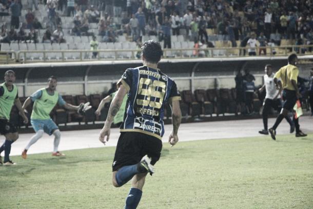El delantero argentino Imanol Iriberri debutó con gol. | Foto: Prensa Mineros de Guayana