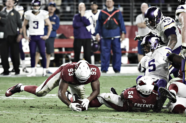 Calais Campbell will try to make big plays as the Cardinals take on the Minnesota Vikings for the second time in as many seasons. |Source:Norm Hall/Getty Images North America|
