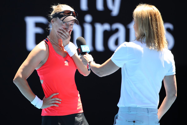 Mirjana Lucic-Baroni was in tears during her post-match on-court interview | Photo: Cameron Spencer/Getty Images AsiaPac