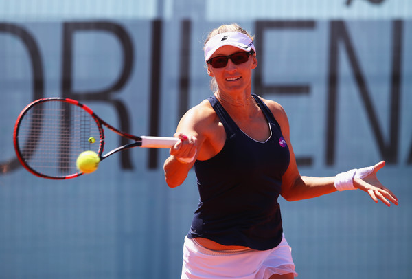 Mirjana Lucic-Baroni in action at the Mutua Madrid Open last year   Photo: Clive Brunskill/Getty Images Europe