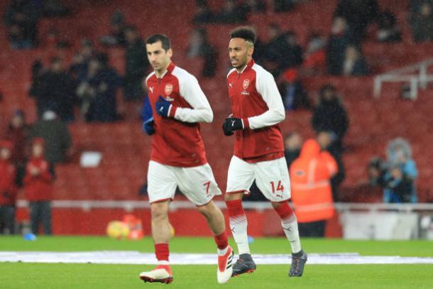 Mkhitaryan e Aubameyang são as mais novas esperanças dos Gunners (Foto: Shaun Brooks/Action Plus via Getty Images)