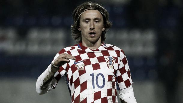 Above: Luka Modric in action for Croatia | Photo: Sky Sports