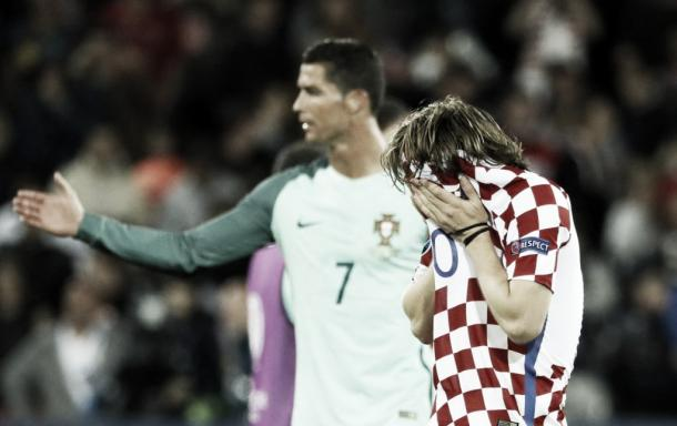 Above: Luka Modric upset after Croatia's 1-0 defeat to Portugal | Photo: Getty Images