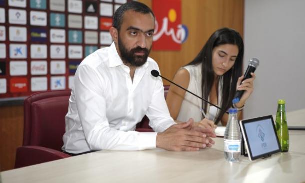 Mohamed El Assy en rueda de prensa | Fuente: udalmeriasad.com