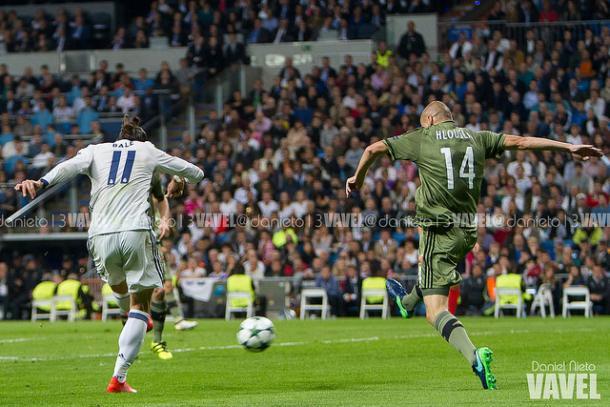 Momento del gol de Gareth Bale | Foto: Daniel Nieto - VAVEL