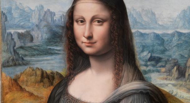 Ampliación del rostro de la Mona Lisa del Prado. ®Museo del Prado.