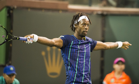 Gael Monfils during his second round win on Monday. Photo: Robyn Beck/Getty Images