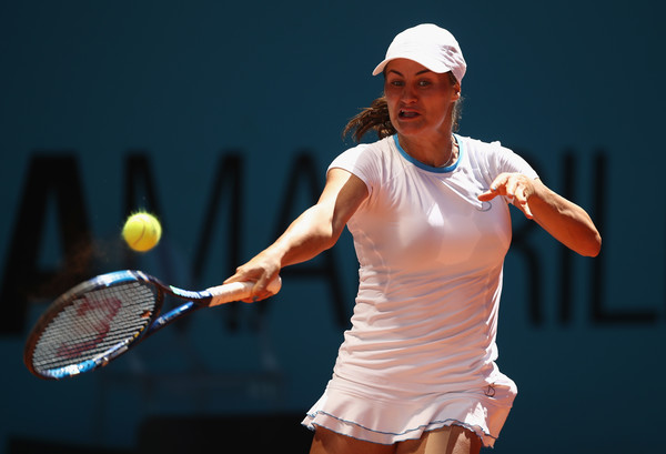 Monica Niculescu in action at the Mutua Madrid Open | Photo: Julian Finney/Getty Images Europe
