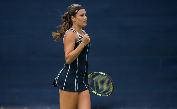 Monica Puig celebrates after winning a point. | Photo: Photo: Jon Buckle/Getty Images Europe