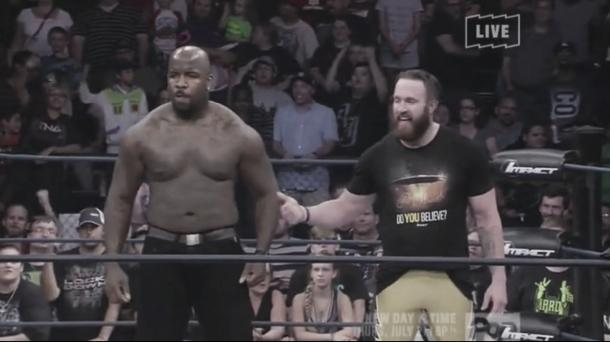 Moose switched to a babyface recently. Photo- TNA Wrestling